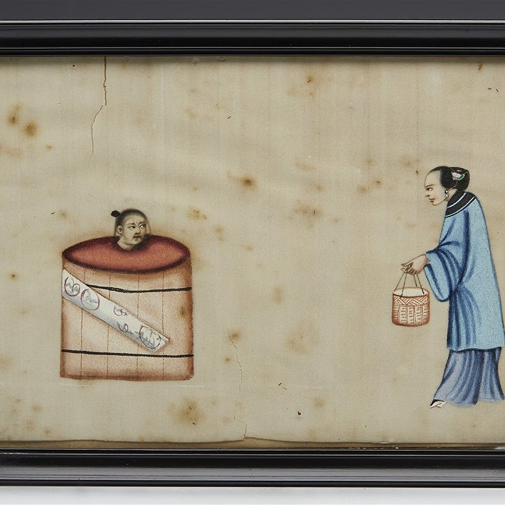 CHINESE TORTURE SCENE 19TH C. 19th Century Qing Dynasty