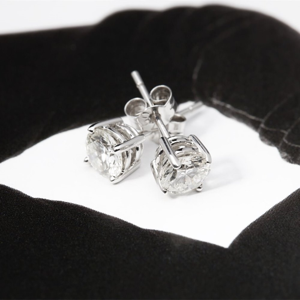 18k White Gold 18k White Gold 1.37cts Diamond Earrings