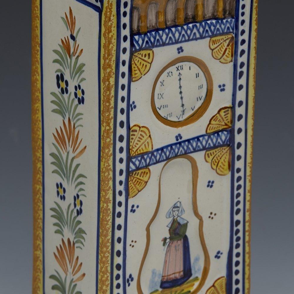 QUIMPER CLOCK VASE c.1925 Circa 1925