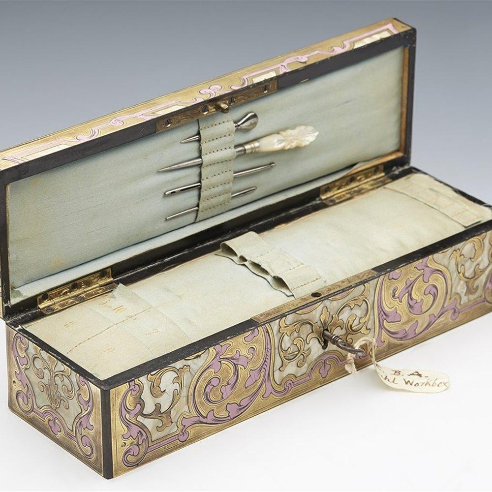 BOULE SEWING BOX c.1880 Circa 1880