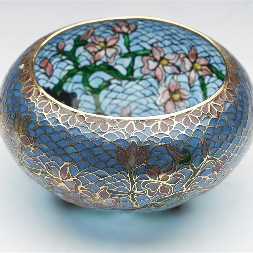 ORIENTAL ENAMEL BOWL Possibly late 19th but probably 20th Century