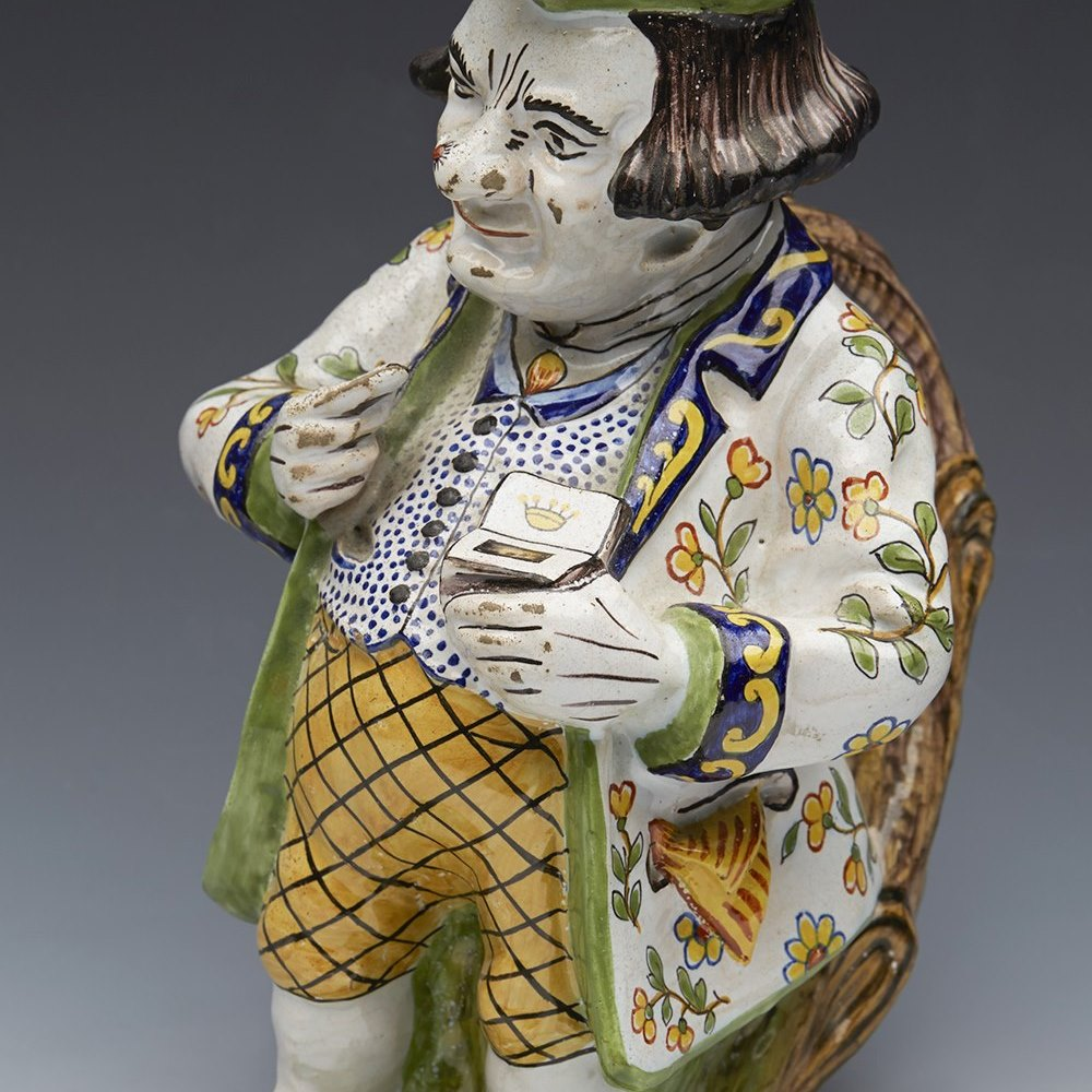 ROUEN SNUFF TAKER JUG 19th Century