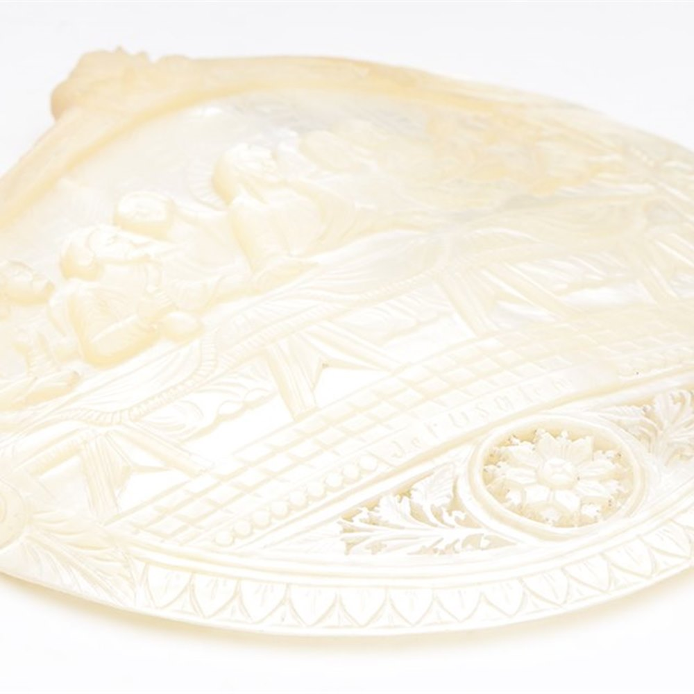 MOTHER OF PEARL SHELL Believed early 20th century