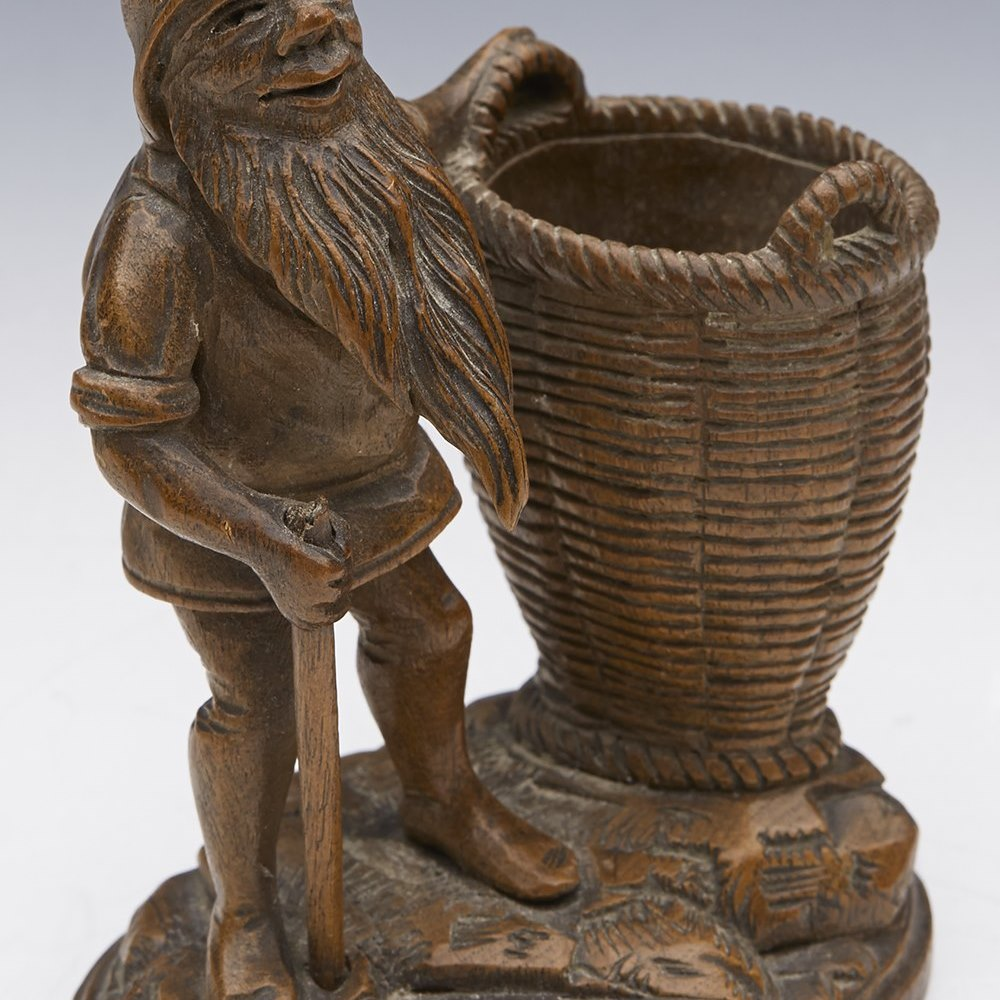 GNOME MATCH HOLDER 19TH C. Believed 19th or possibly early 20th century