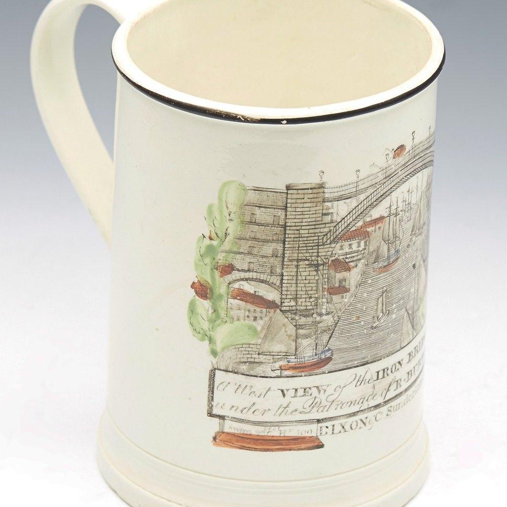 CREAMWARE FROG MUG DATED 1813 Dated 1813