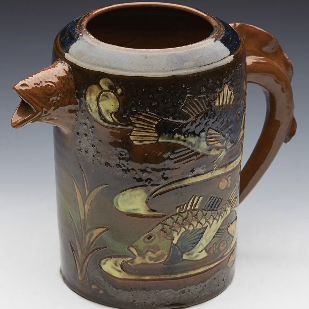 BRANNAM SGRAFFITO JUG DATED 1892 Dated 1892