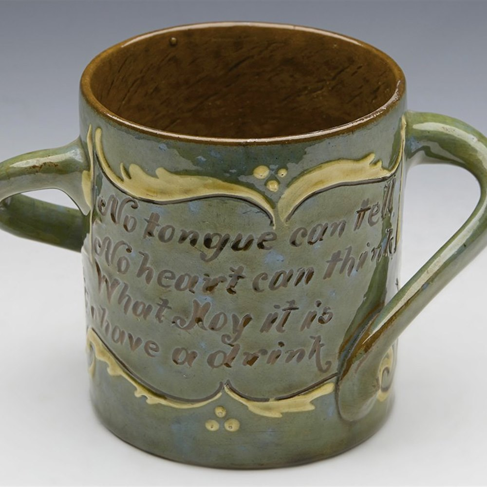 BRANNAM SGRAFFITO CUP 1898 Dated 1898