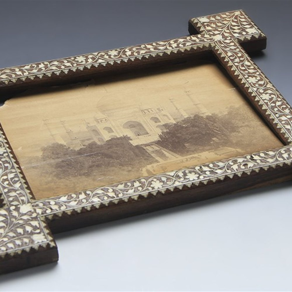 INDIAN INLAID FRAME c.1870 Circa 1870