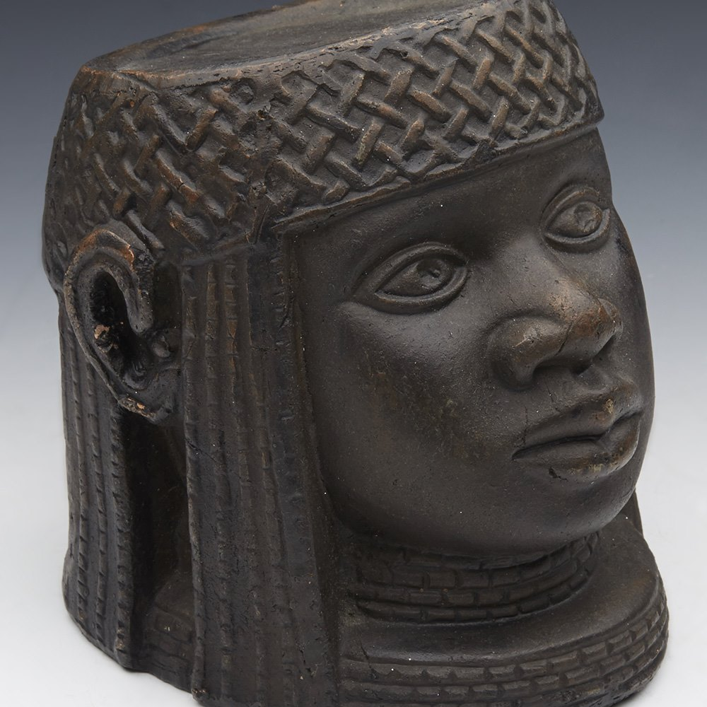 AFRICAN OBA HEAD Believed early 20th century