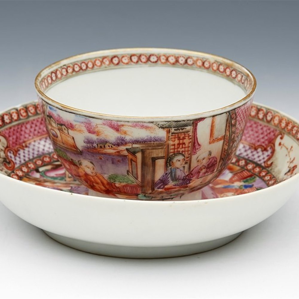 CHINESE MANDARIN TEABOWL 18TH C. Qianlong dating from the 18th century