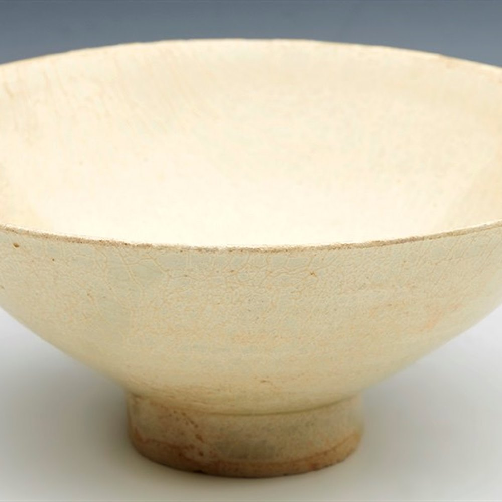 Antique Chinese Song Dynasty Silver-Green Crazed Glaze Bowl 12Th C.