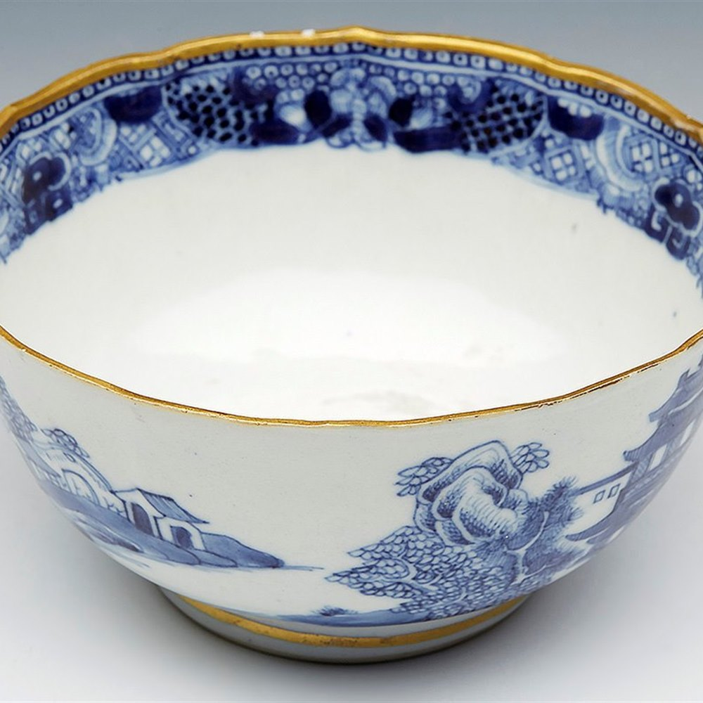 CHINESE QIANLONG LANDSCAPE BOWL 18TH C. Qianlong 18th Century