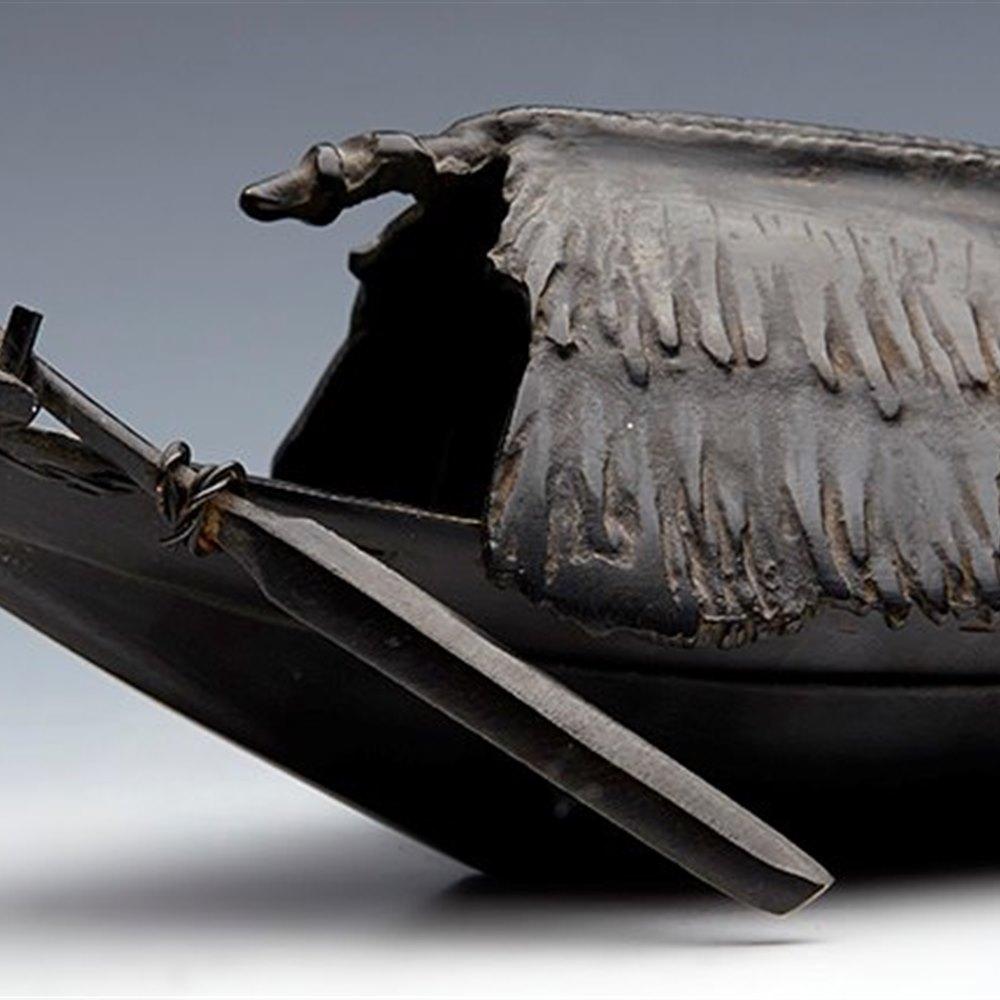 JAPANESE BRONZE INCENSE BURNER Meiji 19th Century