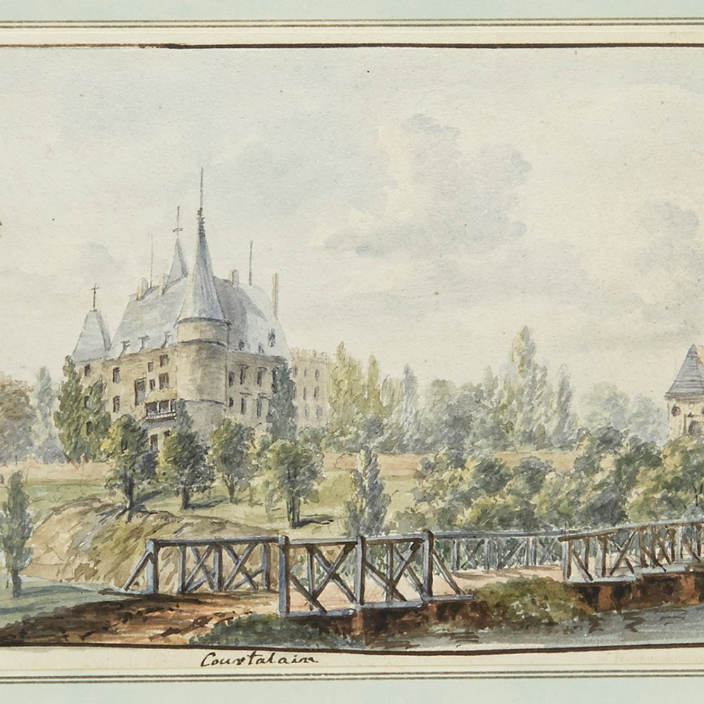 G.LEON, WATERCOLOUR, C.1785 C.1785