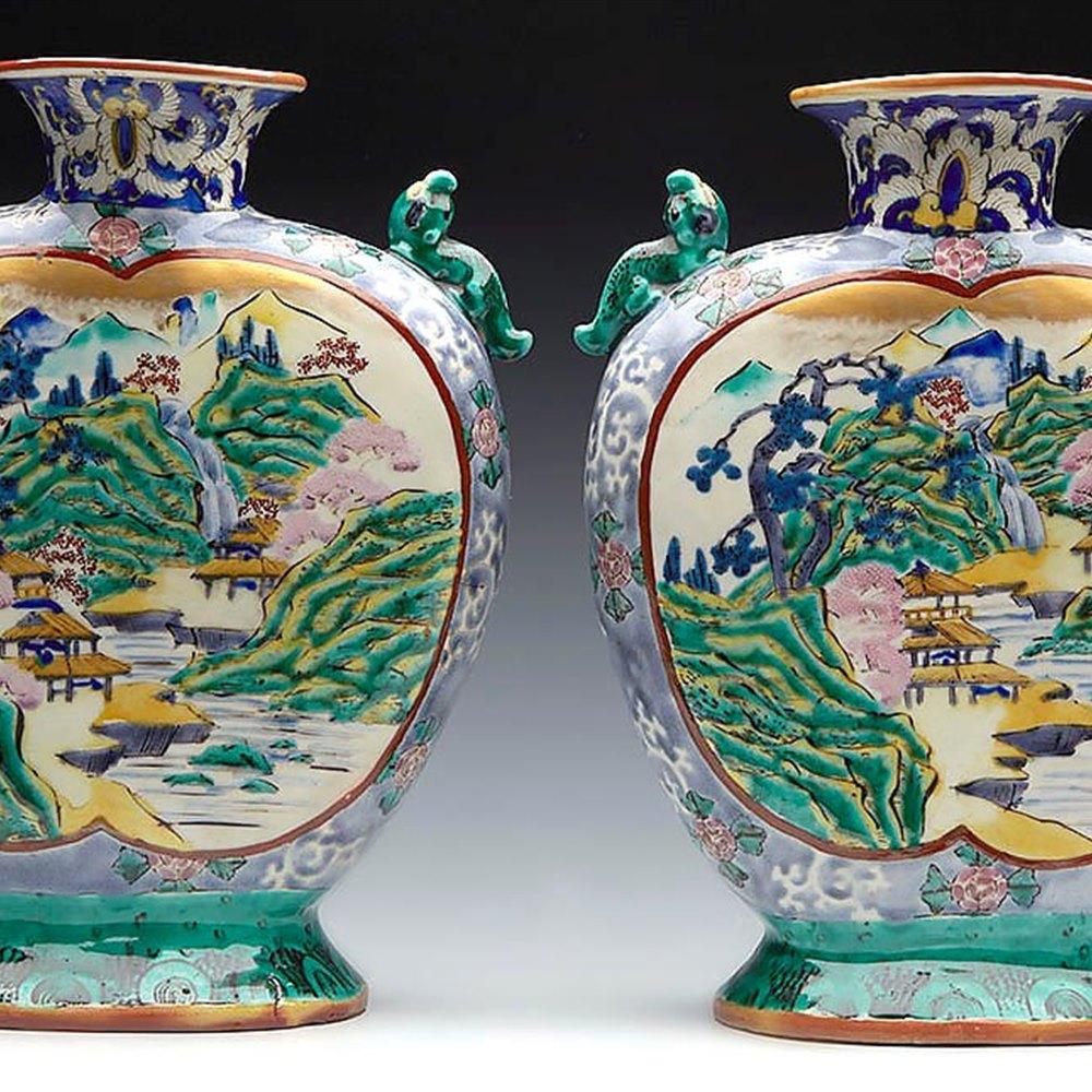 JAPANESE ARITA MEIJI VASES Meiji 1868 t0 1912