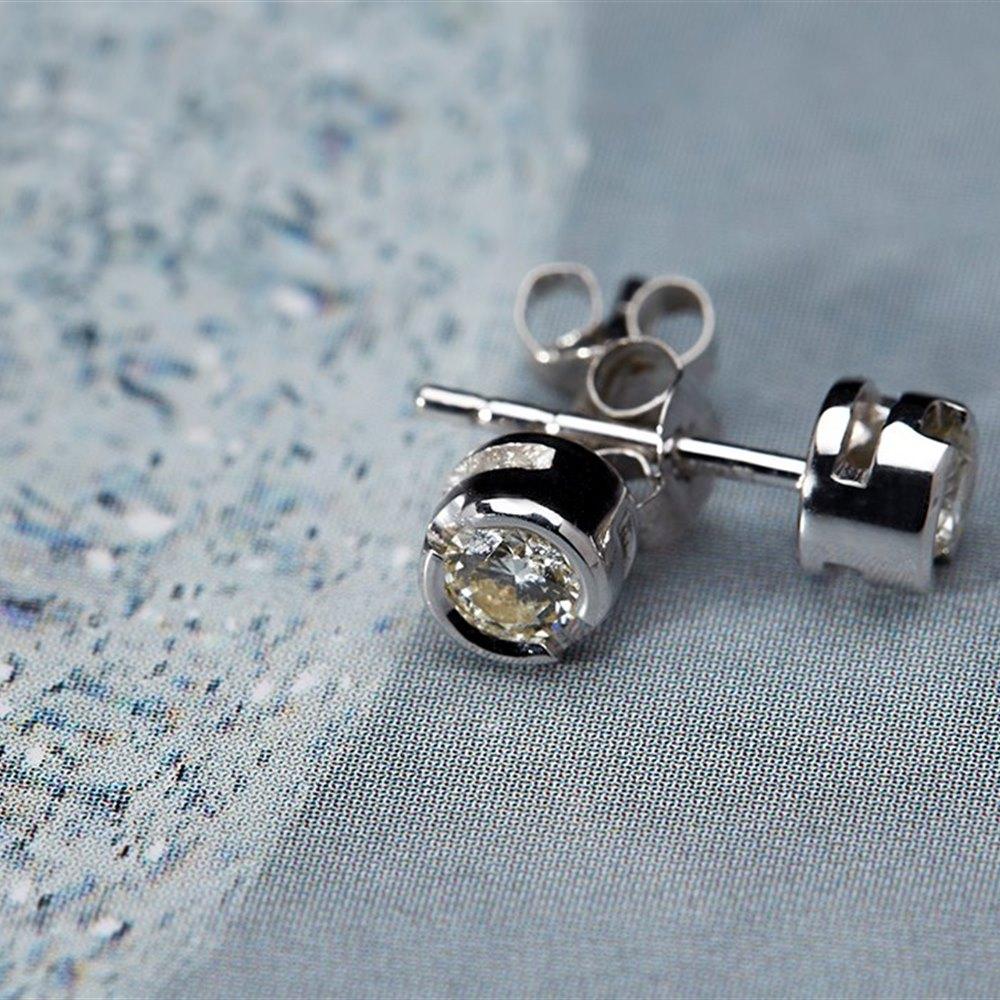 18k White Gold  18k White Gold 0.40cts Diamond Stud Earrings