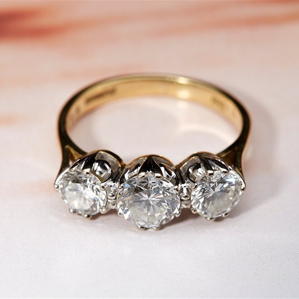 18k Yellow & White Gold 18k Yellow & White Gold 1.40ct Diamond Trilogy Ring