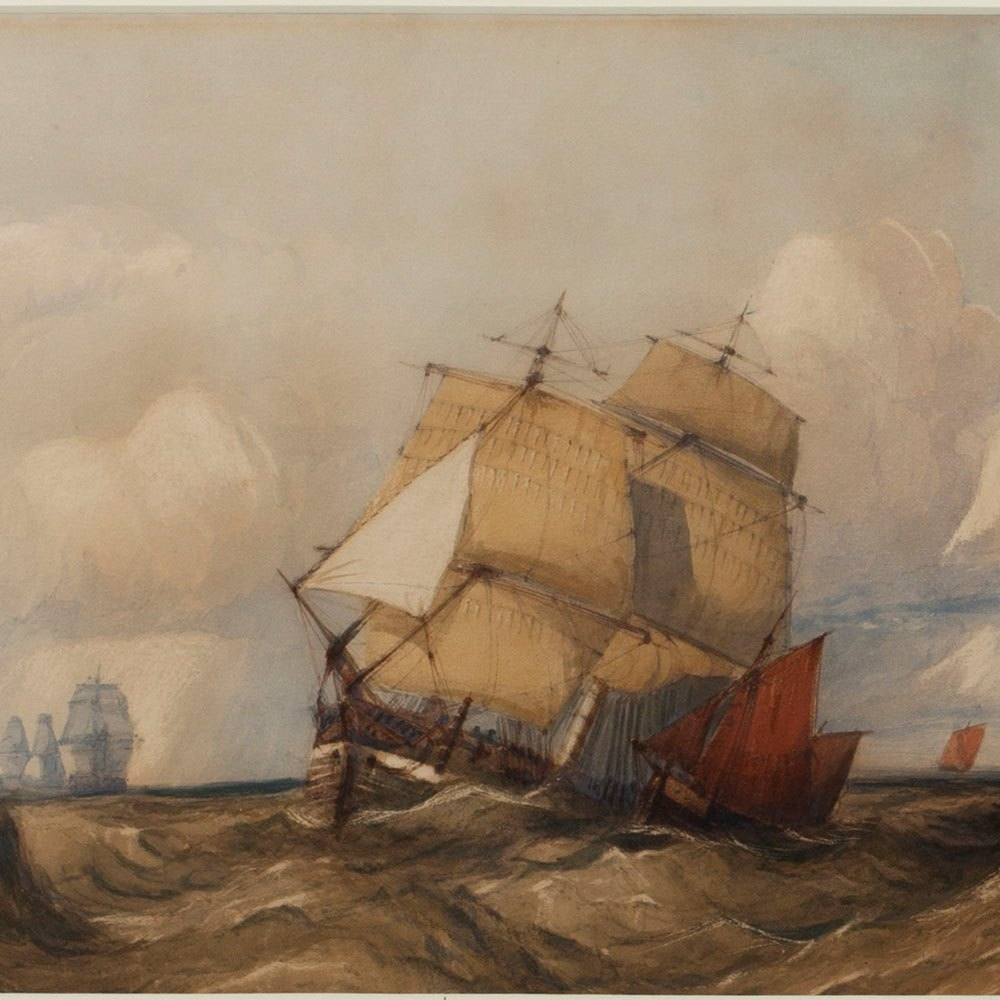 C. BENTLEY, 'ROUGH SEAS' Early 19th C.