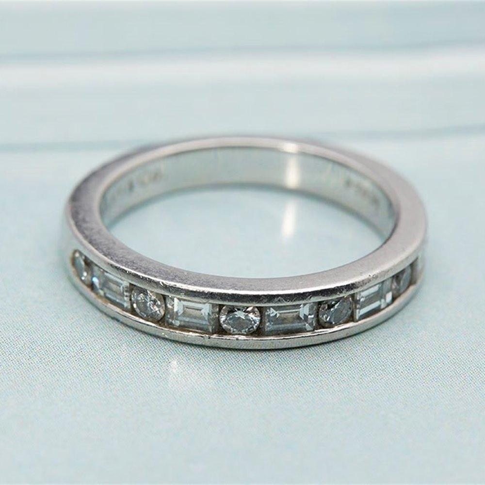 a36181a01 Tiffany Platinum Brilliant/ Emerald Cut Diamond ring 1.00ctsVS/G US Size 4.5