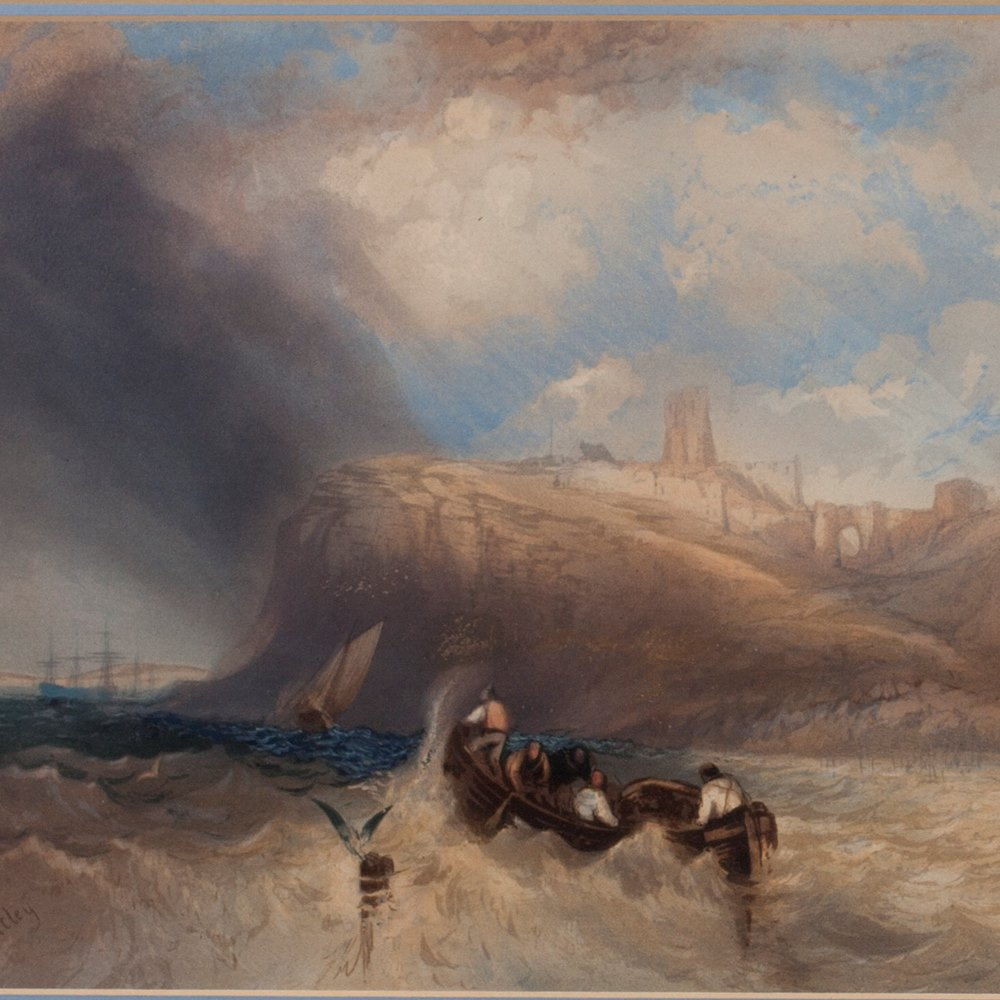 C.BENTLEY, VIEW OF WHITBY Early 19th C.
