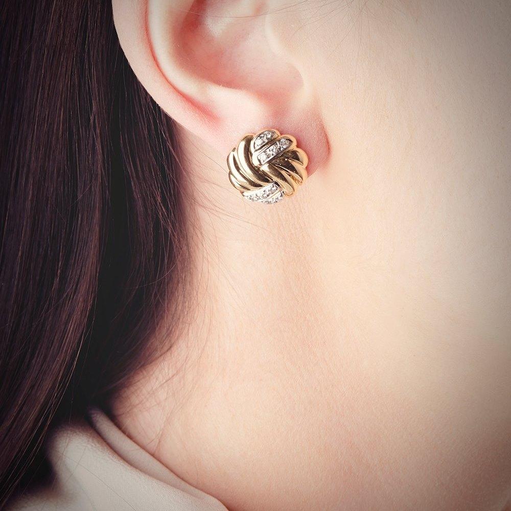 Kutchinsky 18k Yellow & White Gold 0.40ct Diamond Earrings