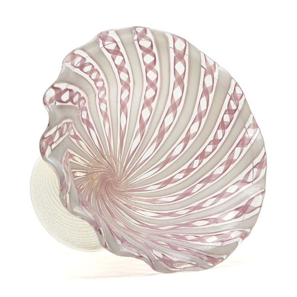 Vintage Salviati Murano Bowl 20th C. Dating from the early to mid 20th century